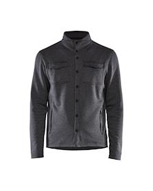 Pique fleece shirt jacket