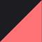 Zwart/ Neonrood