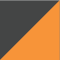 Grafiitinharmaa/ Huomio oranssi