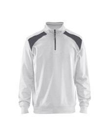 Half-zip 2-tone sweatshirt