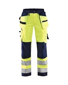 Dámské výstražné softshellové kalhoty