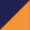 Marineblau/ Orange