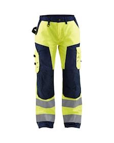 Damskie spodnie o wysokiej widoczności bez kieszeni na gwoździe